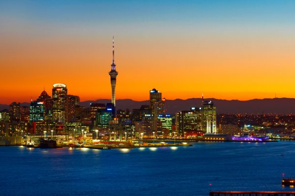 new zealand auckland skyline at night tnz