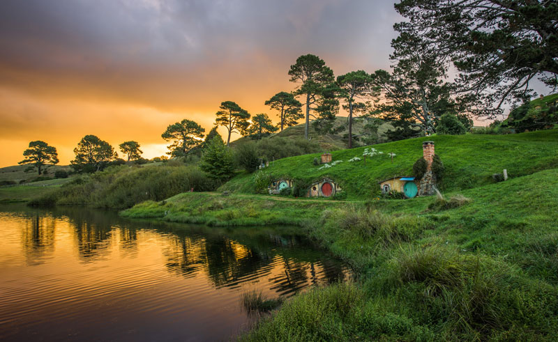 new zealand hobbiton movie set and farm tour