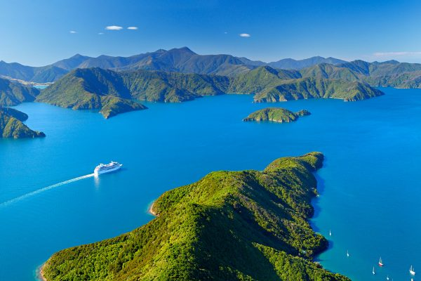 new zealand nelson marlborough sounds aerial view tnz
