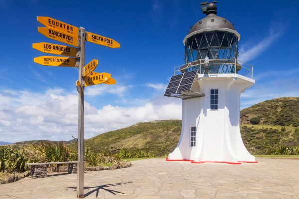 new zealand northland cape reinga lighthouse sign istk