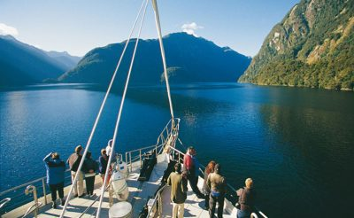new zealand southern lakes doubtful sound view from bow rj