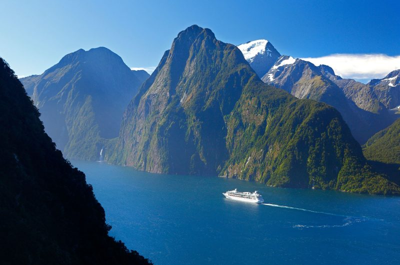 new zealand southern lakes milford sound aerial tnz