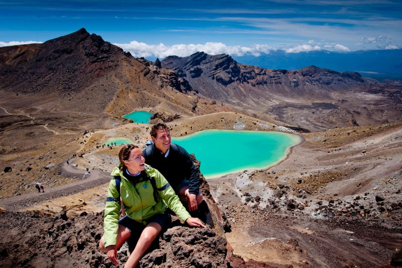 new zealand tongariro national park hikers tnz