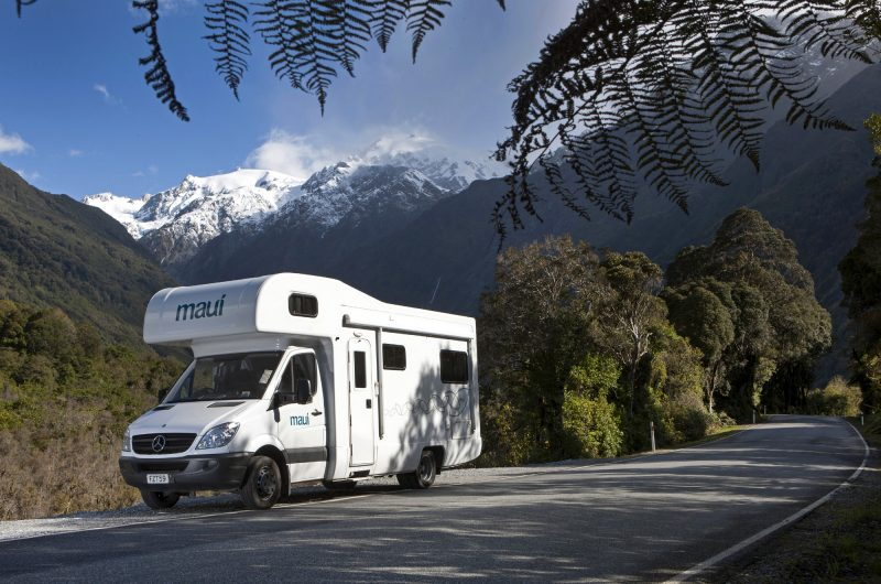 new zealand west coast fox glacier maui motorhome