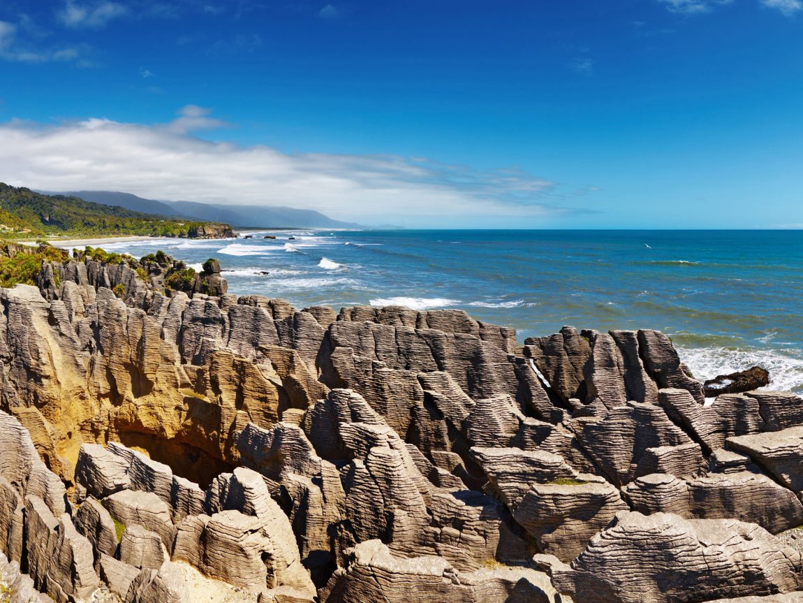 new zealand west coast punakaiki pancake rocks adstk
