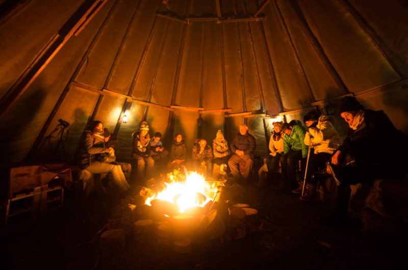 northern norway tromso aurora dinner at sami camp ts