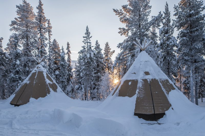 sapmi nature camp lavvus exterior
