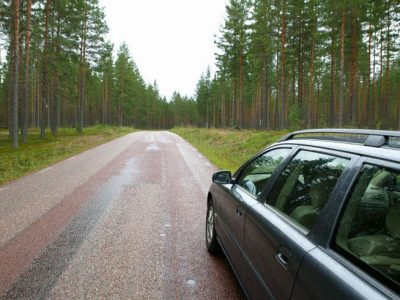 sweden driving through forest rth