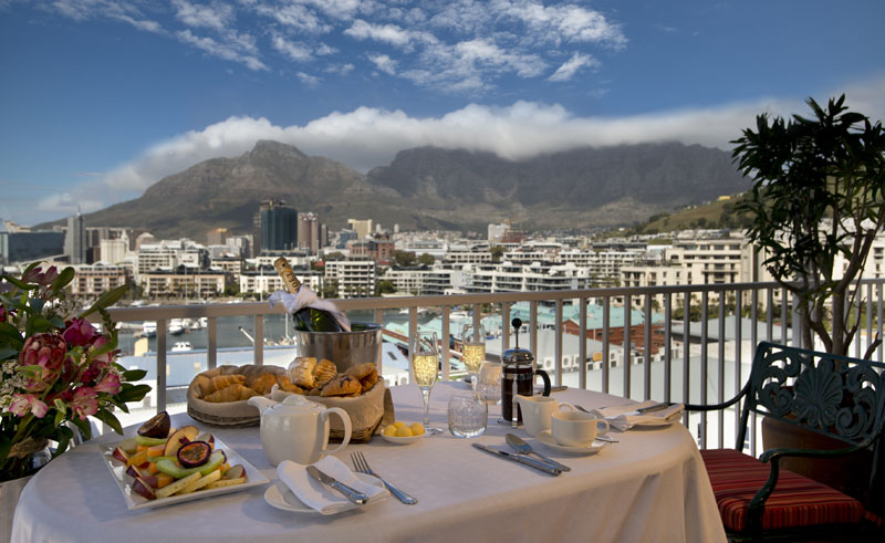 the commodore hotel breakfast on terrace