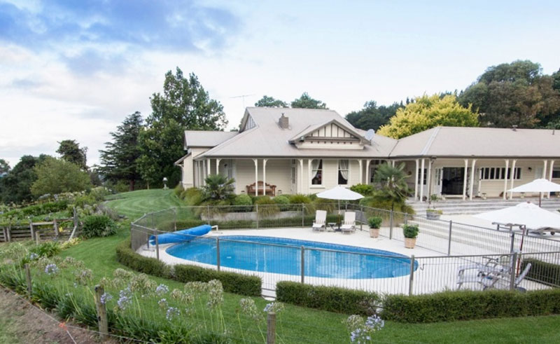 the manse exterior pool