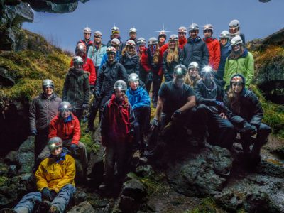 Iceland Students Group Lava Tube
