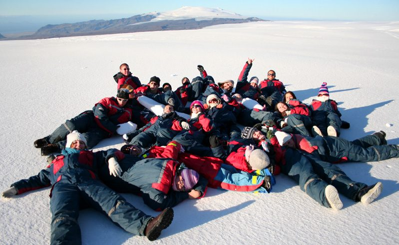 Iceland Students Group Snow