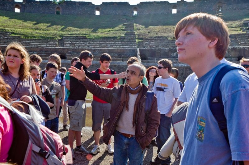 Italy Students Group Pompeii