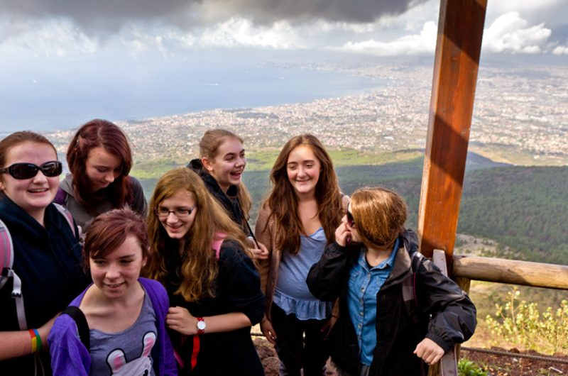 Italy Students Group Vesuvius