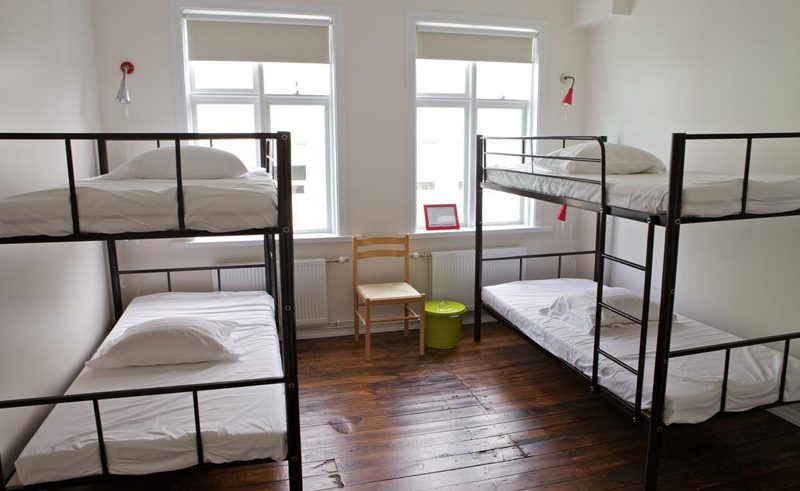 akureyri backpackers room with bunk beds
