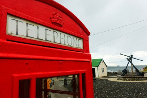 antarctica falkland islands port stanley phone box istk