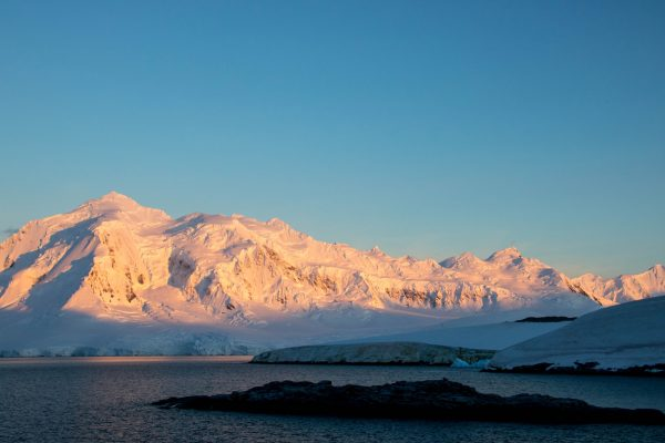 antarctica sunset over weincke island istk