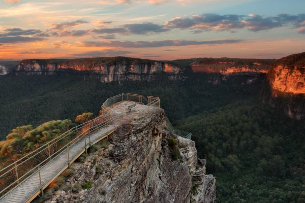 australia new south wales pulpit rock blue mountains istk