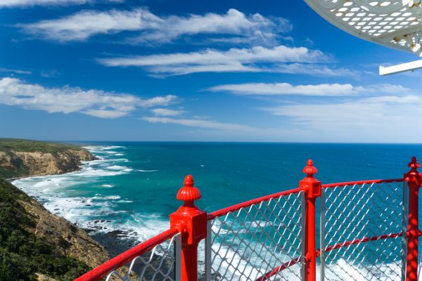 australia victoria view from cape otway lighthouse great ocean road istk