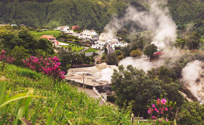 azores sao miguel island furnace valley hotsprings terraces istk