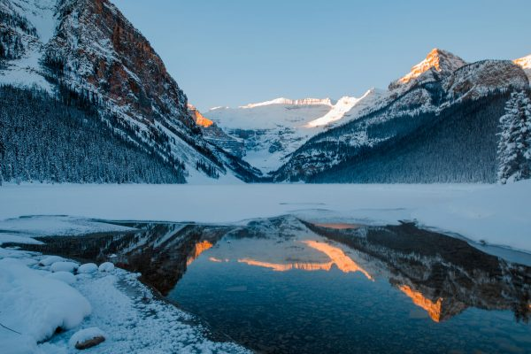 canada alberta lake louise winter reflection istk