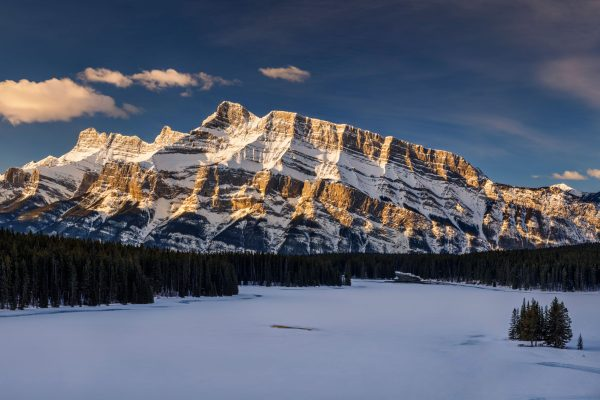 canada alberta mt rundle banff winter view istk
