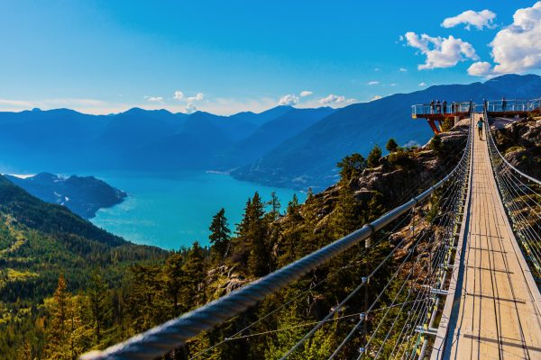 Howe Sound from the Sky Pilot Suspension Bridge