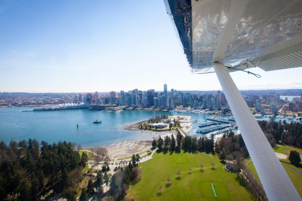 canada british columbia seaplane over coal harbour vancouver hasplns