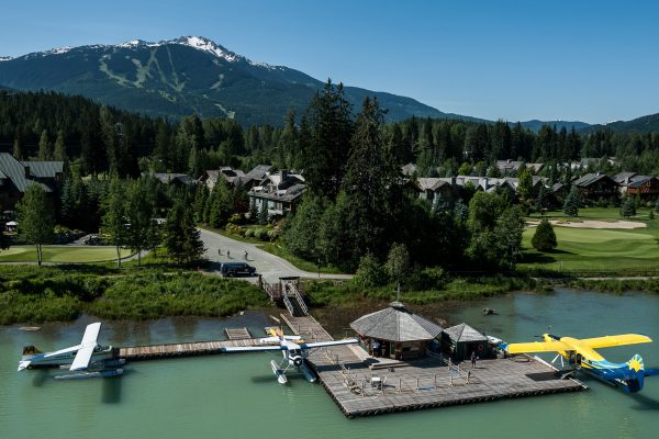 canada british columbia seaplanes at green lake dock whistler hasplns