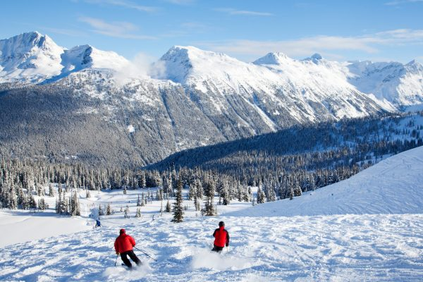 canada british columbia skiers in whistler istk