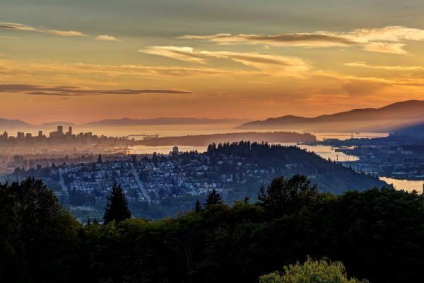 canada british columbia vancouver sunset view istk