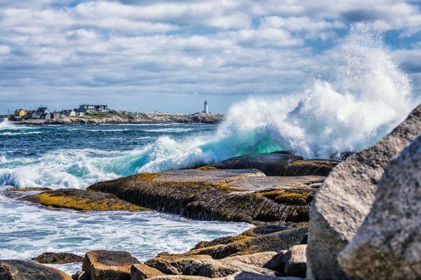 canada nova scotia peggys cove surf splashing istk