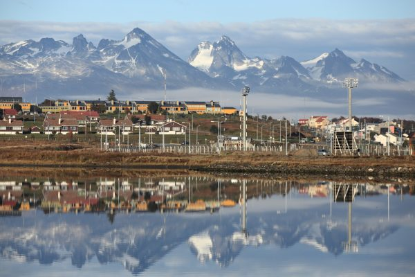 chile argentina ushuaia reflection aust