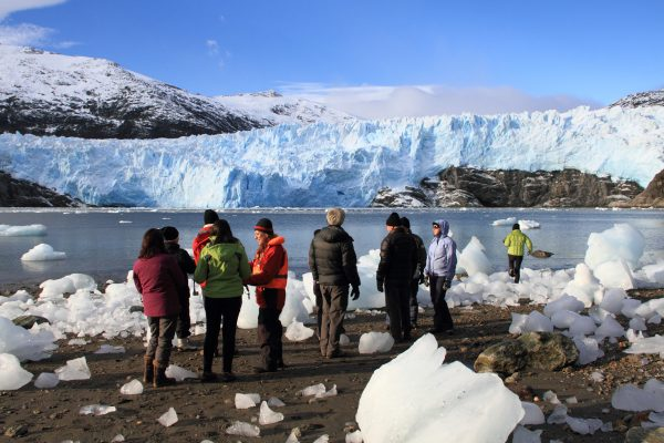 chile patagonia group at brookes glacier aust