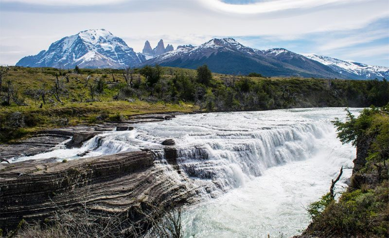 chile patagonia waterfall