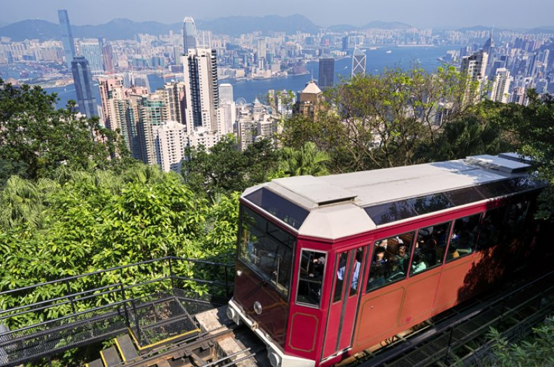 china hong kong victoria peak tram
