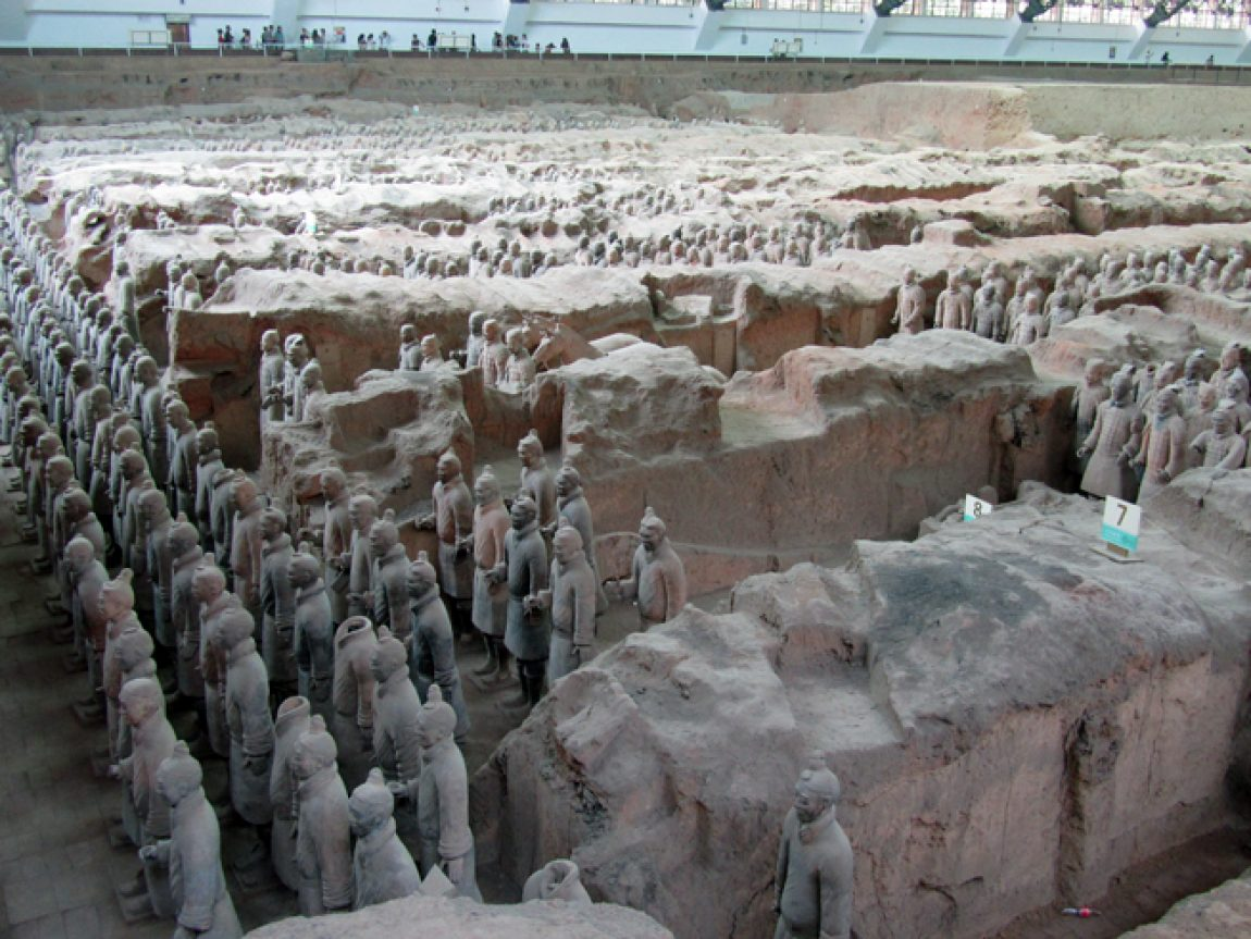 china xian terracotta army wide shot
