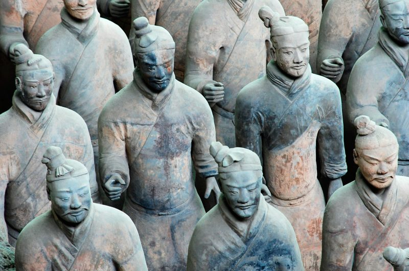 china xian terracotta warriors close up istk