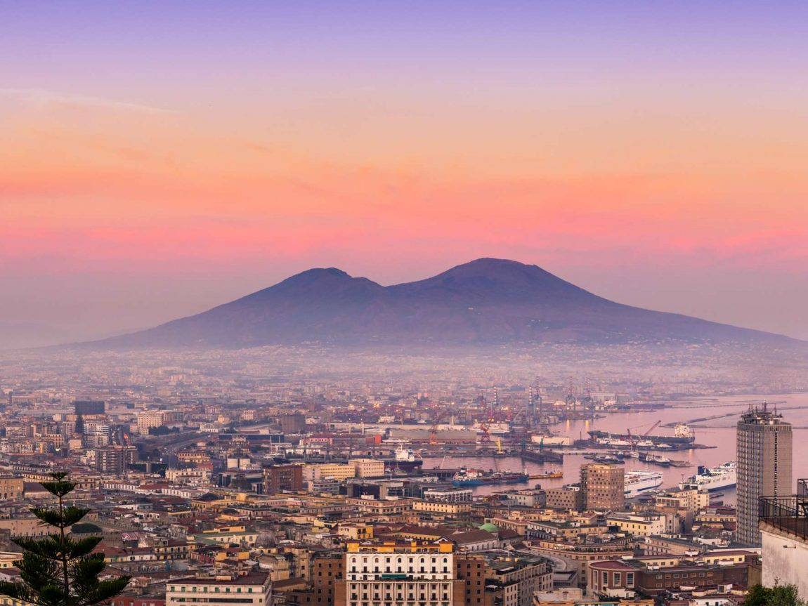 edu italy naples sunset vesuvius