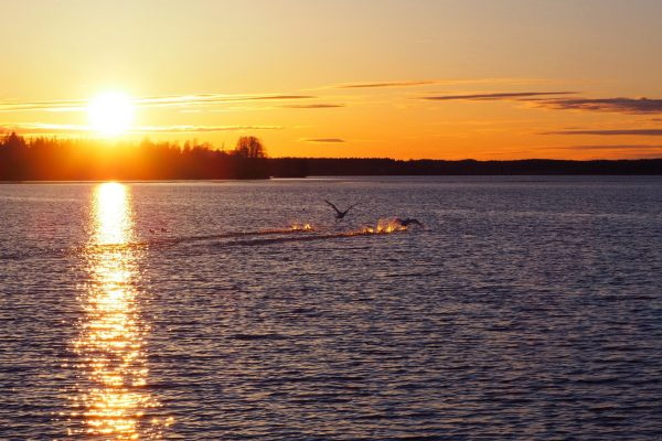 finland central lake sunset istk