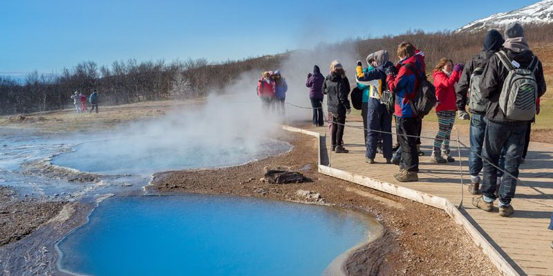 iceland geysir geothermal pools rth