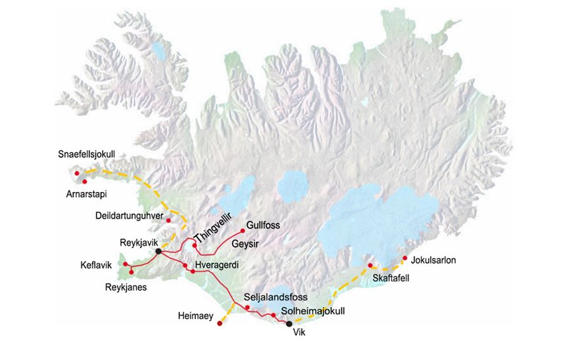 iceland map itinerary2