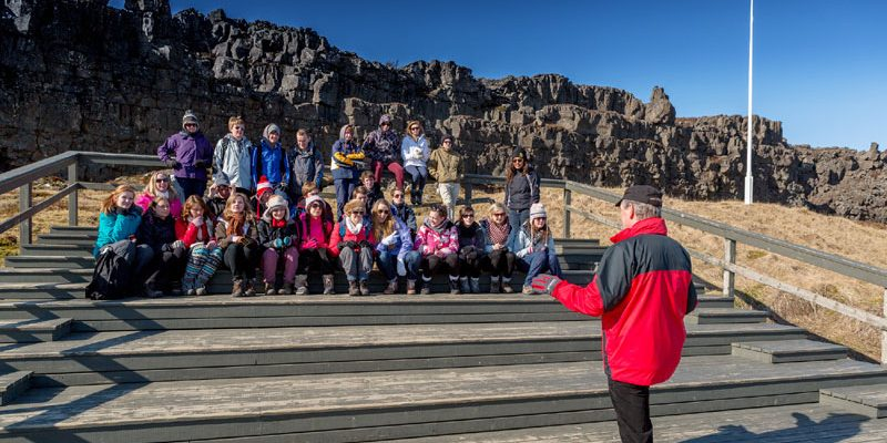 iceland school group at thingvellir rth