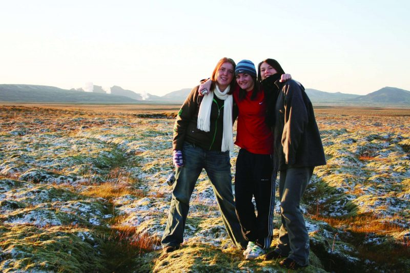 iceland students field