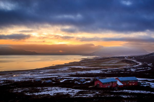 iceland west glymur winter view sa