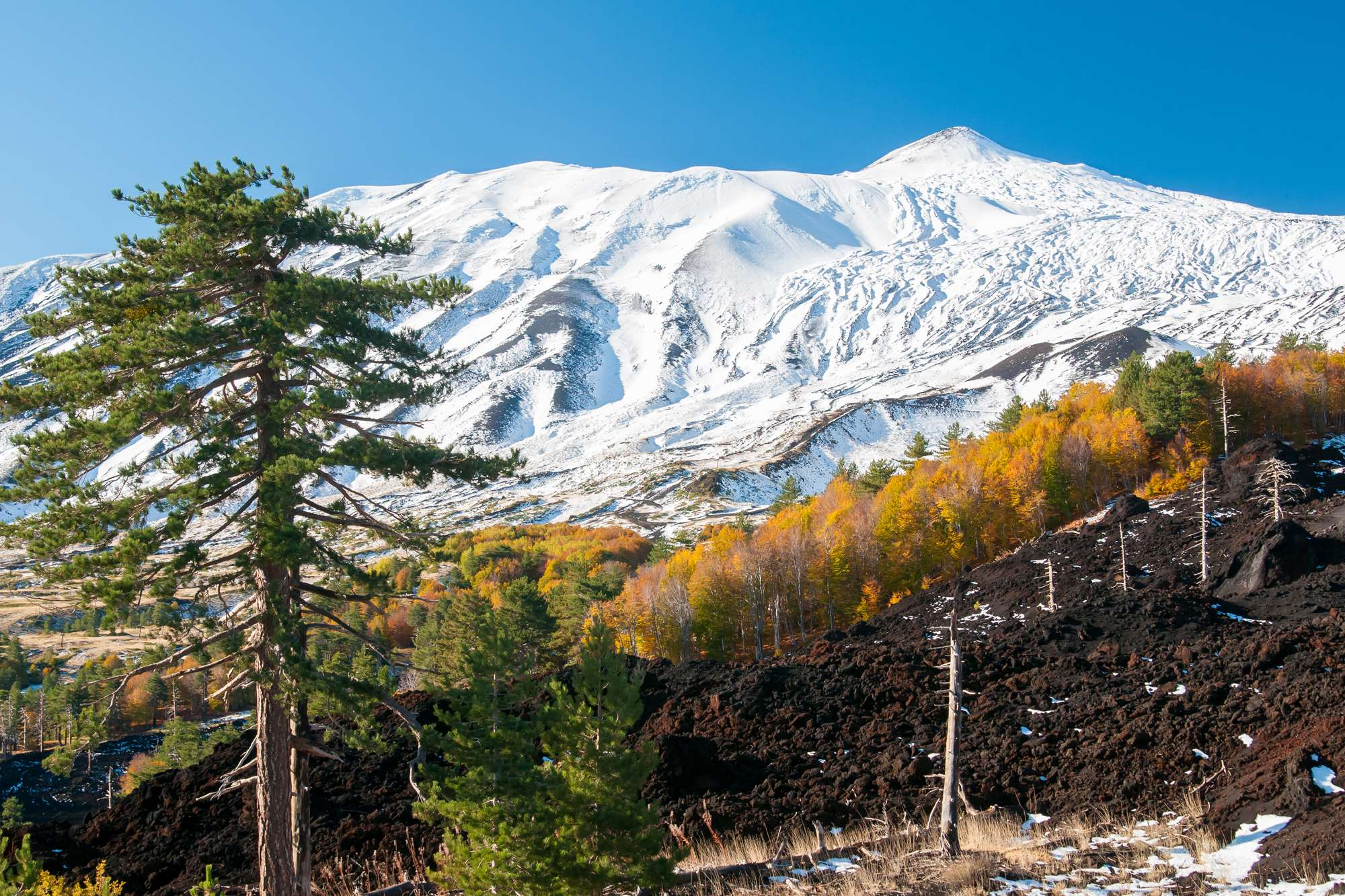 italy sicily etna fissure walk