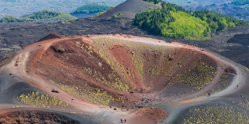 italy sicily mt etna crater aerial istk