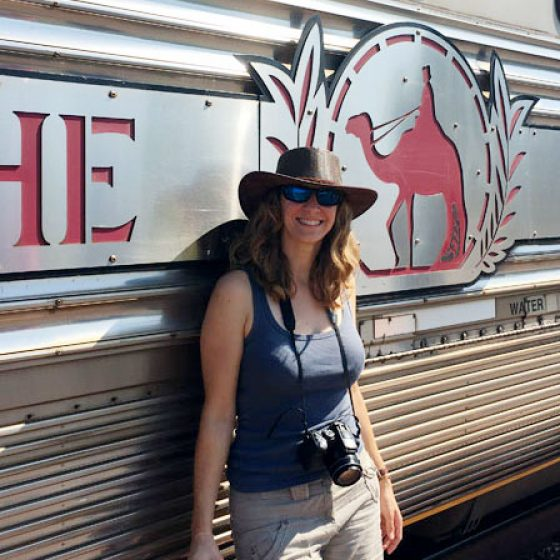 liz and the ghan train australia