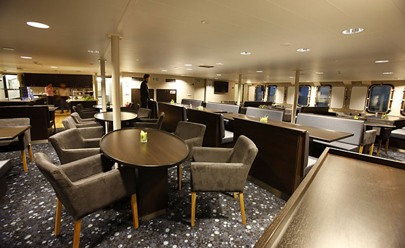 mv plancius ship interior dining room