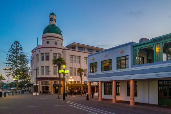 new zealand pacific coast napier dusk istk
